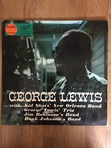 George Lewis With Kid Shots' New Orleans Band. LP Record