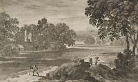 PERELLE, Blick auf eine Mediterrrane Flusslandschaft, 17. Jh., Rad