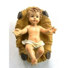 Gesù Bambino con Culla Cm 6 - Bimbo Bambinello Natività Pastori Presepe
