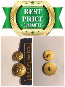 💎 Ralph Lauren Replacement 1 Gold .80 Buttons or 1 Cuff .60 Shield Jacket A904