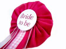 Orden Bride to be pink JGA rosa Deko Accessoire Anstecker Button Hochzeit Braut