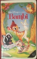 DISNEY BAMBI VHS First Issue BLACK DIAMOND