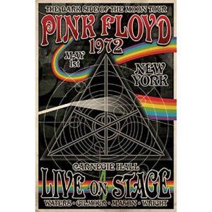 "Pink Floyd Poster – Dark Side Tour Carnegie Hall NY 1972 – 91 x 61 cm 36"" x 24"""