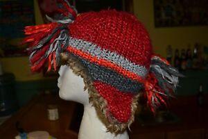 Boys Gap Kids Small Medium Crazy Fringe Winter Knit Cap Hat Mohawk Cute Toddler