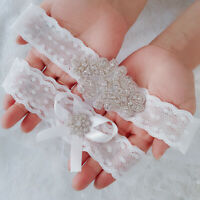 2pcs Floral Lace Thigh Rings Elastic Leg Garters Bowknot Women Wedding Bridal
