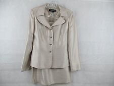 Kasper Suit Long Sleeve Skirt Size Jacket Sz S Lined Women Bage Asl 6 New L 10