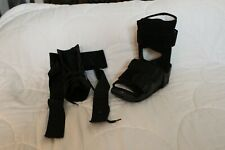 Black Low-top Orthopedic Medical boot and ASO ankle brace, Used.