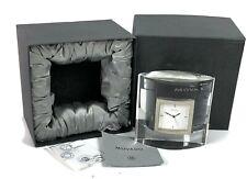 RARE NOS Movado Crystal Desk Clock with Box