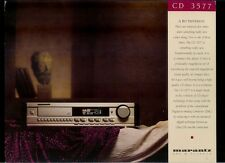 Super Rare Vintage Original Marantz Dealer Sheet CD Player CD 3577