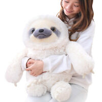 Winsterch Sloth Stuffed Animal Plush Toy Baby Doll Kids Gifts 19.7inches(White)