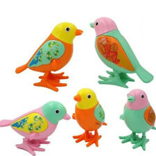 Clockwork Wind Up Toy Plastic Cute Bird Kids Early Educational Toy Color Random