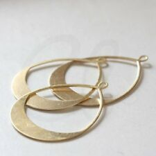 6PCS 10X11.5MM Quality Gold Color Brass Hollow Hearts Pendants Finding 30821