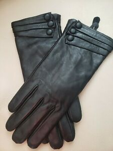 Women's Genuine Nappa Leather Gloves, Cashmere Lining, NWOT, size S