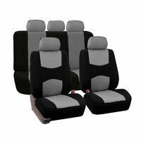 SUV Gray Car Seat Covers ProtectorFront & Rear 5 Bucket Universal For Car Auto