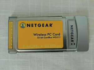 Netgear WG511 54 Mbps 32bit Wireless PCMCIA Card