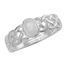 Ringe mit Mondstein ovale echten Edelsteinen aus Sterlingsilber