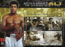 Dominica 2008 MNH Muhammad Ali Greatest All Time 4v M/S II Boxing Sports Stamps