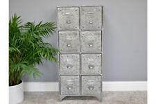 Vintage Industrial Metal Cabinet With Multi Drawer Retro Style Storage Furniture