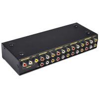 3 RCA Video Audio AV Switch 1 to 8 Ports Selector 8-Way TV Splitter Box