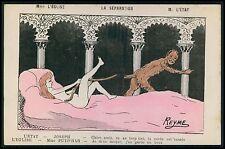 Joseph and Potiphar's Wife France & Church Political caricature 1900s postcard