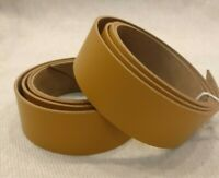 "TAN BROWN LEATHER 127cm 50""+ LONG BELT BLANK 2.5mm COWHIDE STRIP LEATHER STRAP"