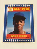 1986 Burger King All-Pro #17 Dwight Gooden New York Mets Baseball Card