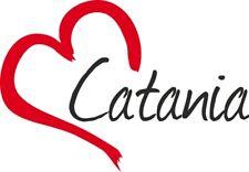 """Adesivo per auto """" CATANIA """" (Città) cuore Sticker ca.9x13 cm taglio contorno"""