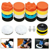 "22pcs 3"" Buffing Waxing Polishing Sponge Pads Kit Set For Car Polisher Drill US"