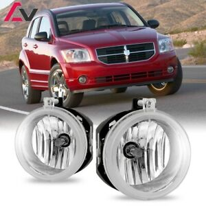 For Dodge Caliber 07-09 Clear Lens Pair Bumper Fog Light Lamp Replacement