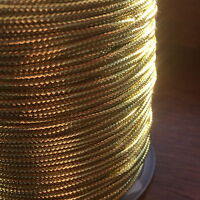 2MM WIDE METALLIC GOLD CORD X 10 METRES - GLITZY - FREE UK P & P