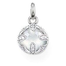 Genuine Thomas Sabo Sterling Silver Milky Quartz White Lotus Pendant RRP$159