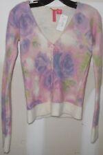 Charlotte Tarantola Women Small Cardigan Sweater Lambswool Angora NWT $160 LC153