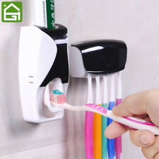 1 Set Creative Automatic Plastic Lazy Toothpaste Dispenser 5 Toothbrush Holder S