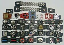 Premium Motorcycle Vest Chain Extenders Handmade in USA Line 24 Snaps MC Biker