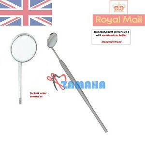 Mouth Mirror Handle with Mouth Mirror Size 4- 22 mm Standard Thread ZAMAHA UK