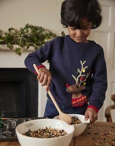 Joules Boys The Cracking Festive Mini Me Jumper  - Navy Reindeer