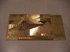 BILLET 500 EUROS REPLICA OR GOLD 24K