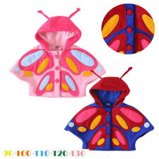 Kids Baby Girl Autumn Winter 3D Butterfly Hooded Coat Cloak Jacket Thick Clothes