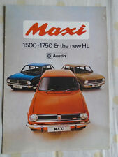 Austin Maxi 1500 1750 & HL range brochure Apr 1973 ref 2923/A
