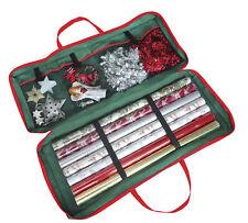Christmas Corner Xmas Gift WrapStorageBag Holder Tidy82x34x13cm Fabric Green