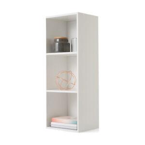 3 Tier Shelf Display Wood Bookcase Bookshelf Storage Wooden Shelving Rack F1