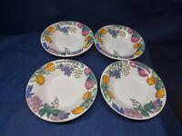 """Vintage Gibson Designs """"Sorbet"""" Set/4 Soup/Salad Bowls Retired 2001"""