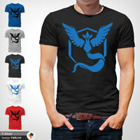 Pokemon Go T Shirt Mens Tshirt Black T-Shirt Team Mystic Large Cotton XXL 3XL