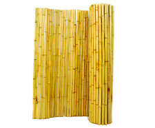 Backyard X-Scapes Natural Rolled Bamboo Fence 4 ft x 8 ft Durable Garden Fence