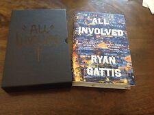 RYAN GATTIS- ALL INVOLVED- SIGNED 1ST ED SLIPCASED- LTD-UNREAD Free Post In Aus