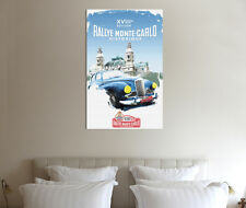 Historic Monte Carlo Rally - 30x20 Inch Canvas Art - Framed Picture Print