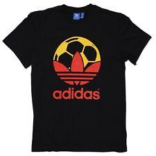 Adidas Originals ADI TREFOIL FOOTBALL PAYS ESPAGNE CHEMISE NOIR ROUGE JAUNE XS