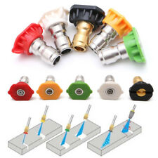 Pressure Washer Spray Nozzle Tips 14 Quick Connection Design 25 Gpm 5 Pack