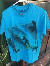AWESOME CLASSIC VTG OP OCEAN PACIFIC SURF T-SHIRT 2Sided Graphic MADE USA BLUE