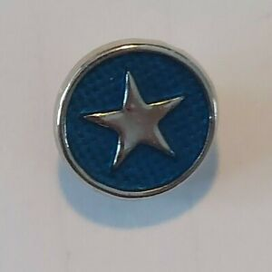12mm mini petite snap charm for GingerSnap jewelry-Dark Blue w/Silver Star